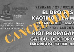 Lapuebla fest rock 2018 cancelado